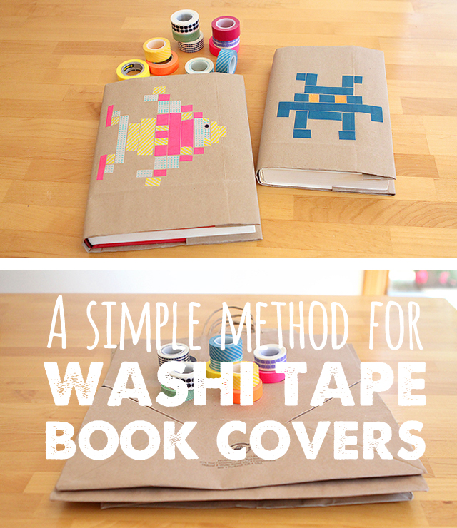 Book Covers For School Diy : Back to school diy washi tape book covers modern