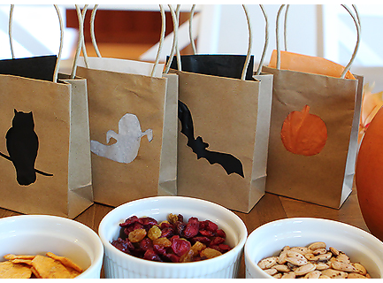 Two-for-One Halloween Treat Bags & Luminaries