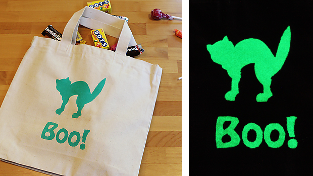 glow in the dark trick-or-treat bags