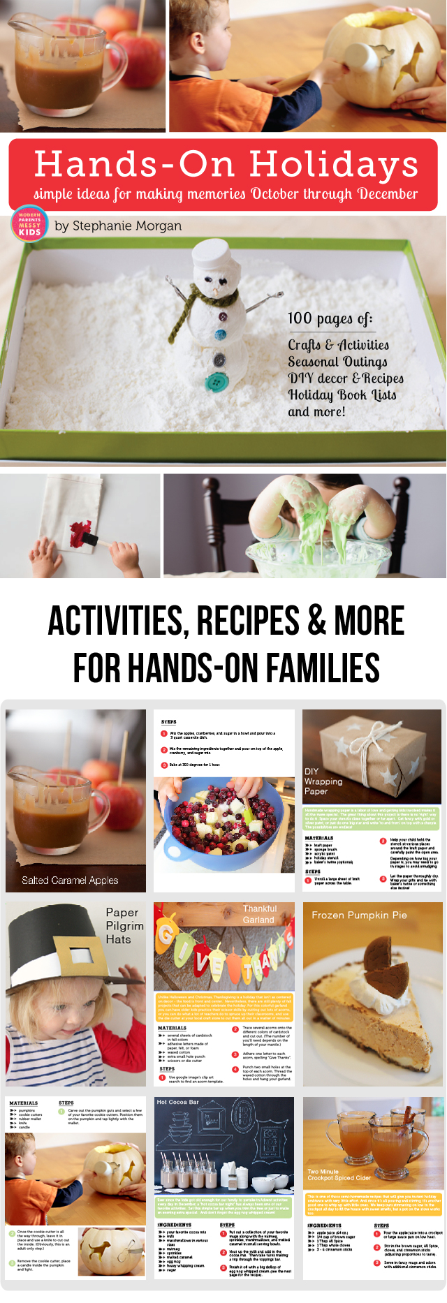 Hands-On Holidays eBook: Simple Ideas for Making Memories October through December