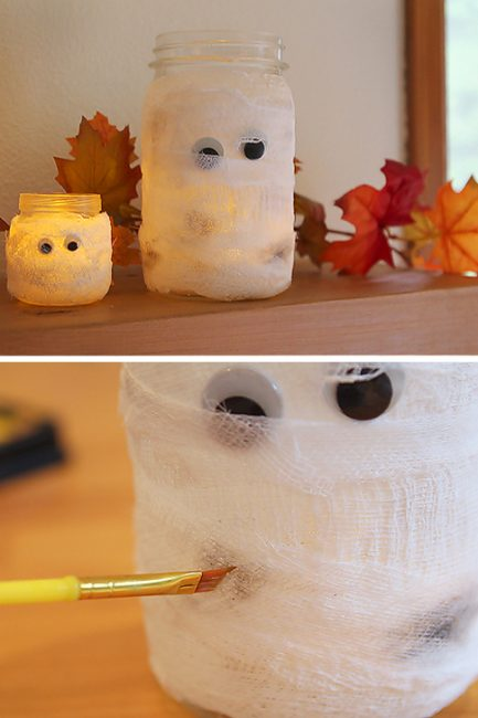 DIY Mummy Luminaries