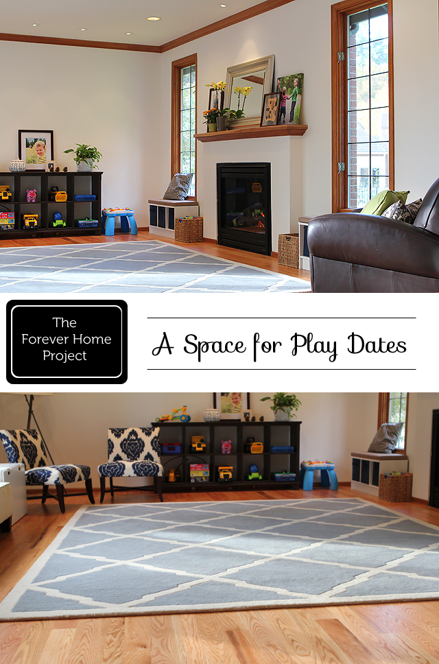 """Ideas and tips on creating a space for kids to play and moms to connect - part of """"The Forever Home"""" series"""