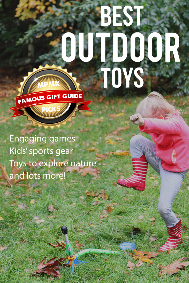 BEST OUTDOOR TOYS FOR KIDS - Such a great list of toys to get kids outside and being active in good weather or bad!