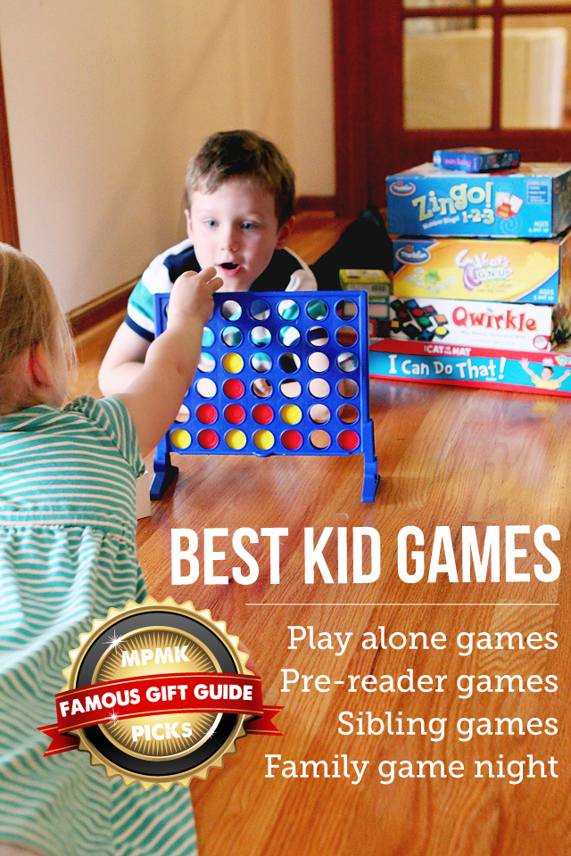 MPMK Toy Gift Guide: Best kid games to start a family game night, top kid play alone games, best games for siblings, etc.- Really appreciate the detailed reviews and useful age recommendations in this gift guide.