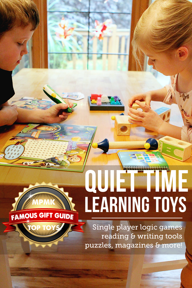 MPMK Gift Guide: Quiet time learning toys gift guide - I want everything on this list!! Love the detailed descriptions and age recommendations, super helpful!