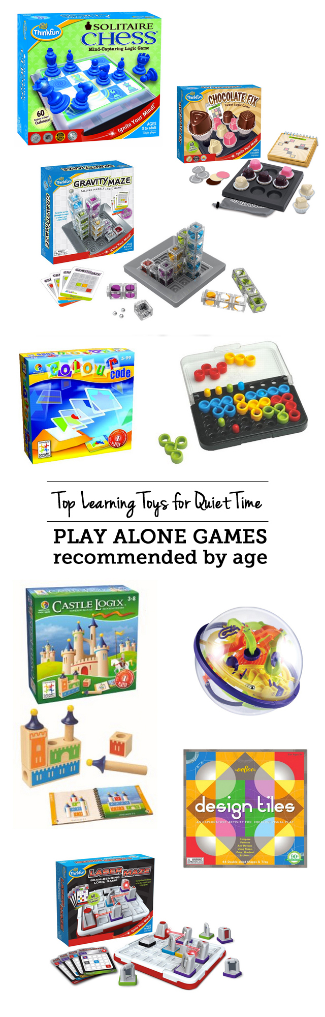 MPMK Gift Guide: Top learning toys for quiet time: play alone games - love that my kids are building brainpower with these while I get stuff done or have one-on-one time with their sibling.