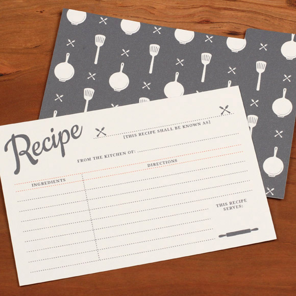 Vintage editable recipe card
