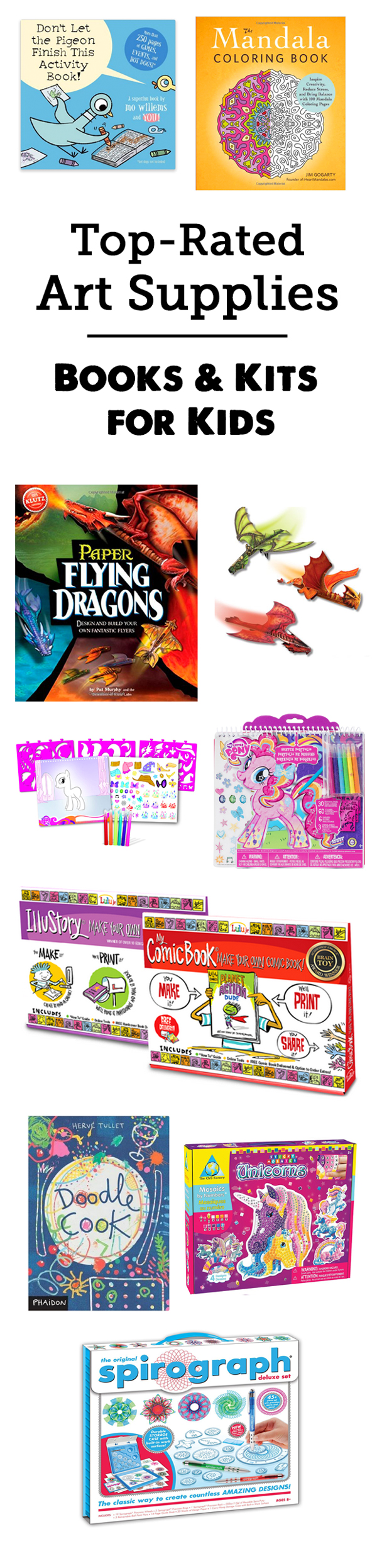 MPMK Toy Gift Guide: Best Art Supplies, Art Books and Art Kits for Kids - So many cool and interesting picks here, love the age recommendations and detailed reviews.