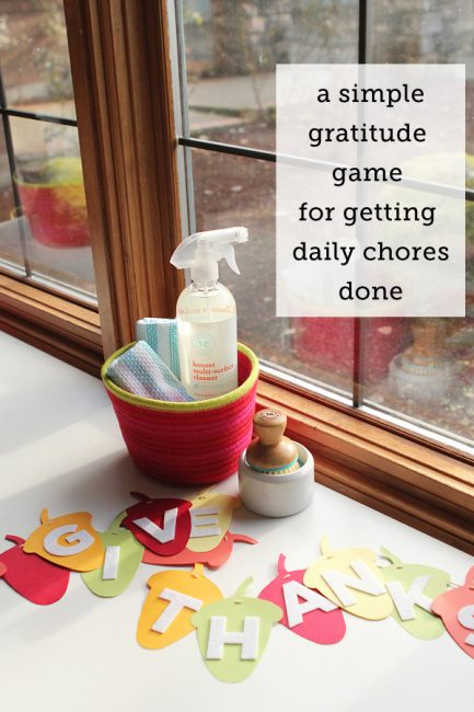 Preventing Entitlement: A Gratitude Chore Game