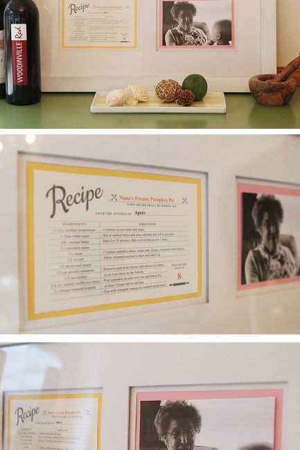 Must-Make: Framed Family Recipe with Photo