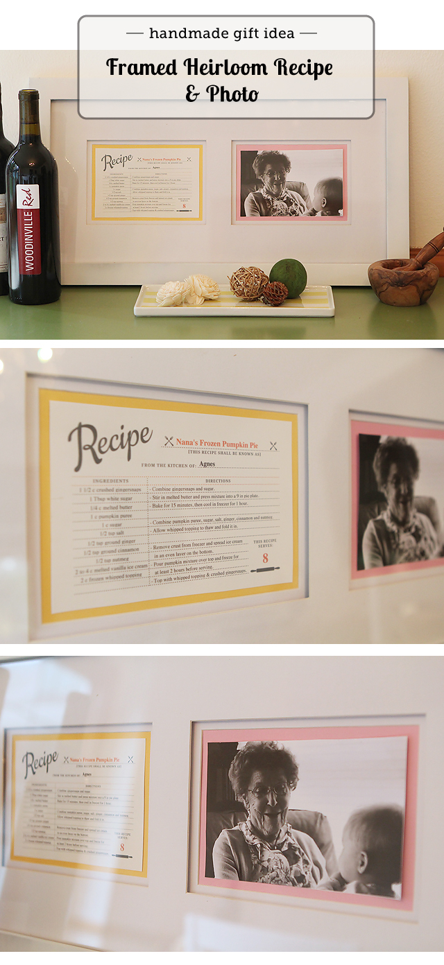 Must-Make: Framed Family Recipe with Photo - Modern Parents Messy Kids