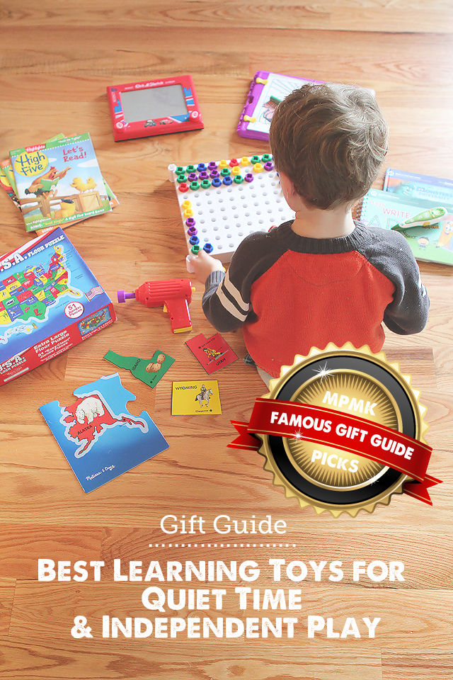 Gift Guide: Best Learning Toys for Quiet Time - LOVE this list for getting stuff done or one-on-one time with siblings!