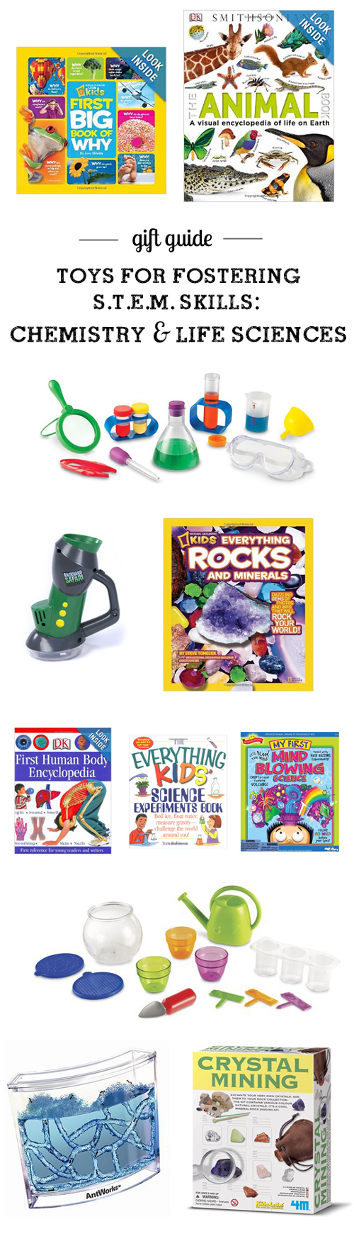 Gift guide: Top S.T.E.M. (Science, Technology, Engineering, & Math) Picks for all ages - so many cool picks I'd never thought of and I love, LOVE the detailed descriptions and age recommendations. Such an amazing resource!