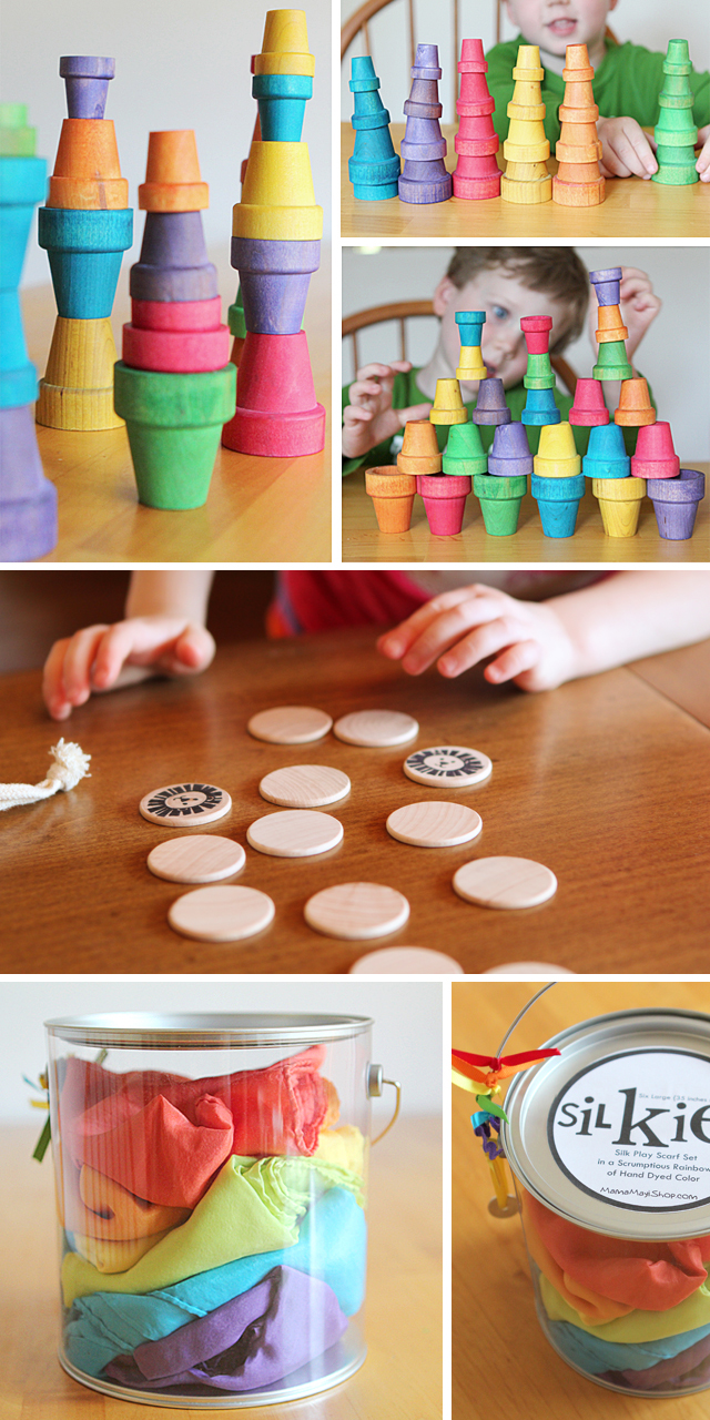 Beautiful handmade toys - love these blocks and matching games as stocking stuffers!