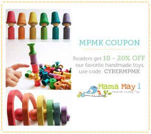 Get 10 - 20% off our favorite handmade learning toys