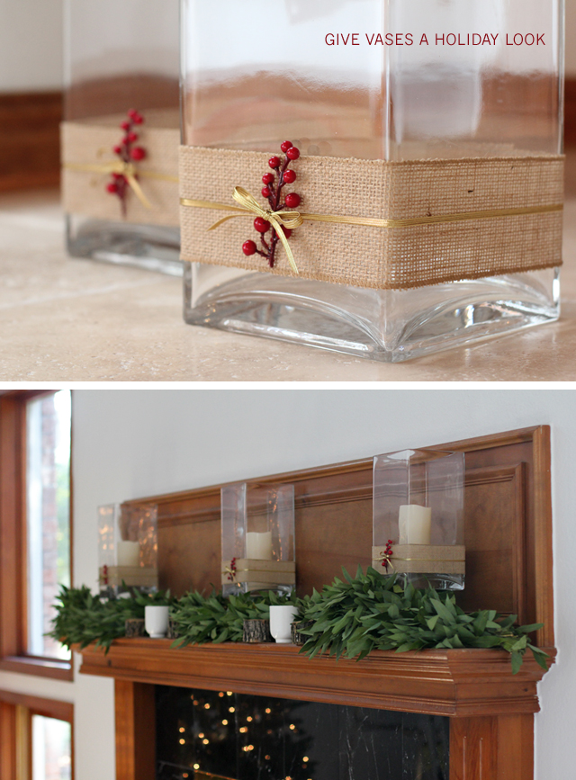 The Forever Home Project: A Modern Rustic Holiday Mantle - love the link to that bay leaf garland