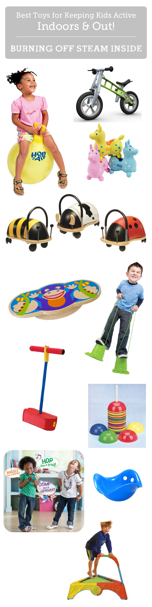 Top toys for kids to burn off steam indoors - many of these have been a life-saver during the rainy season!