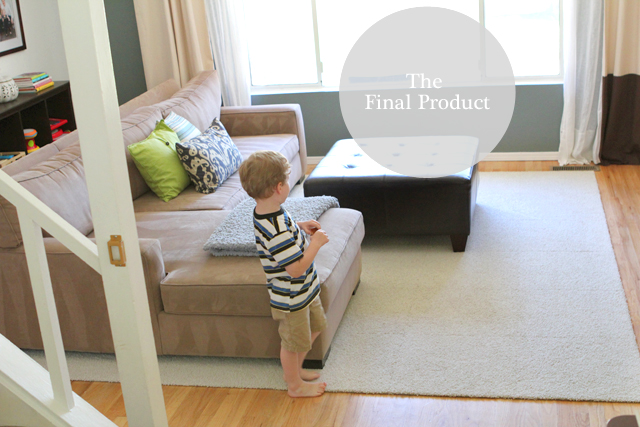 FLOR designer carpet tiles - great for making odd-sized rugs plus you can clean and replace individual pieces if the get stained.