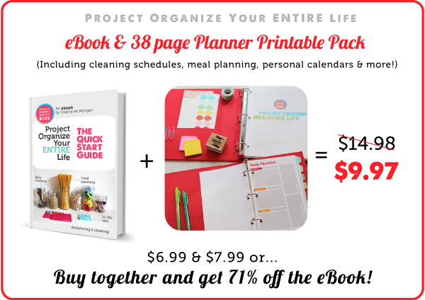 Project Organize Your ENTIRE Life eBook & 2014 Printables Pack - This is the year I WILL be more organized!!