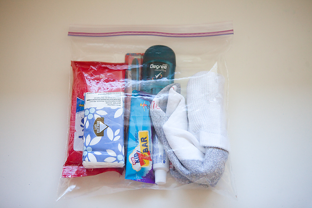 a blessing bag for the homeless