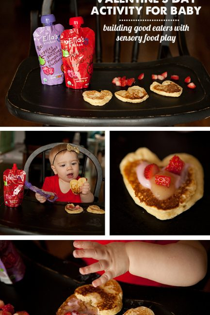 Valentine Activity for Baby: Decorating (and Eating) Healthy Pancakes