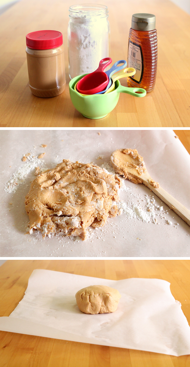 Edible Homemade Peanut Butter Play Dough
