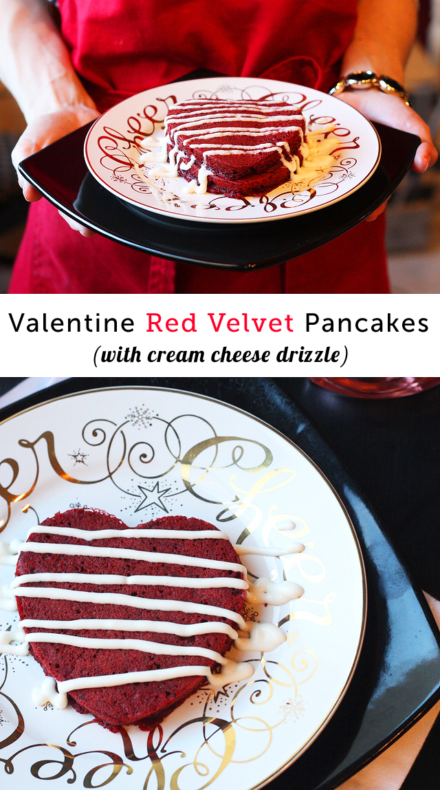 Red Velvet Pancakes for Valentine's Day