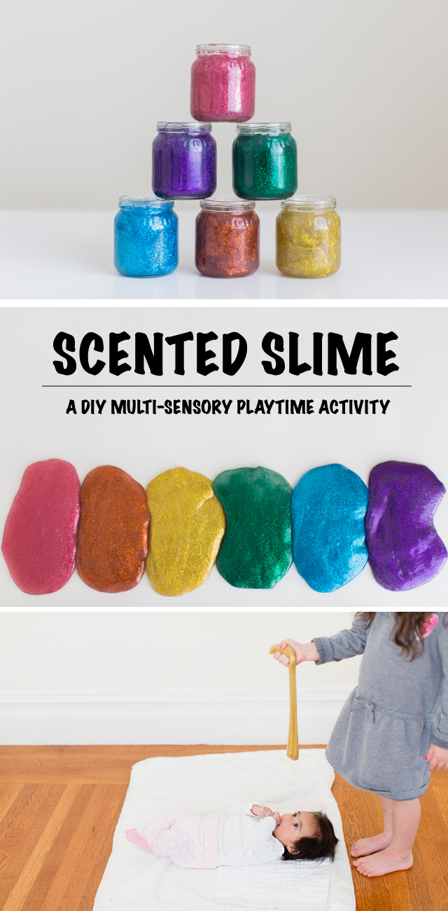 Sensory Play Must-Try: Rainbow Scented Glitter Slime