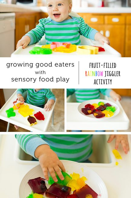 Learning to Explore Food Through Play: Fruit-Filled Jigglers