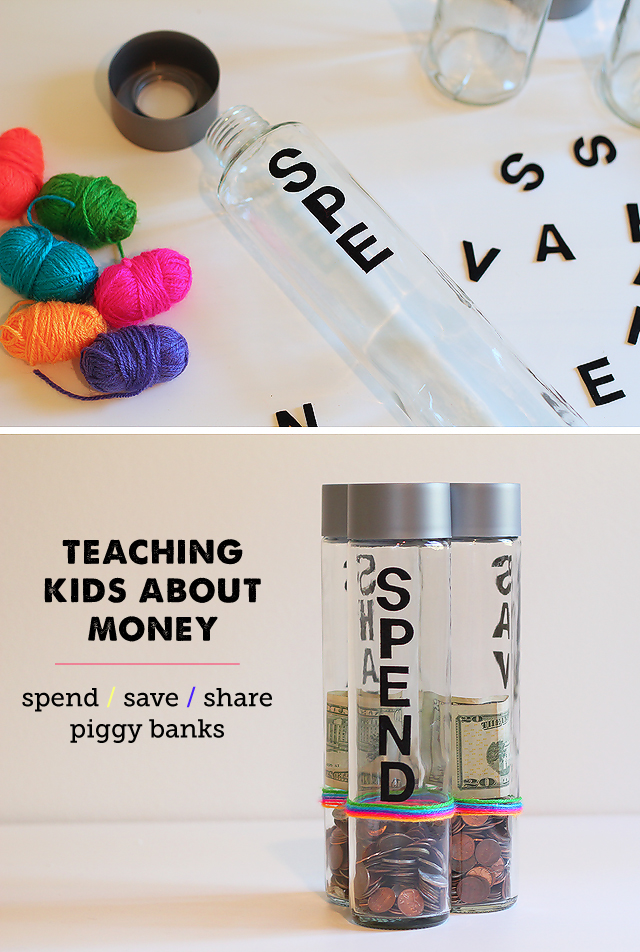 A great project for introducing money concepts to kids - including saving and giving.