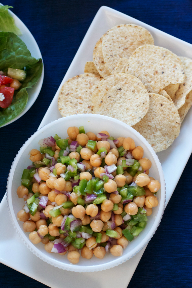 Try this chickpea version of Cowboy Caviar, plus 10 more ideas for quick lunches with chickpeas!