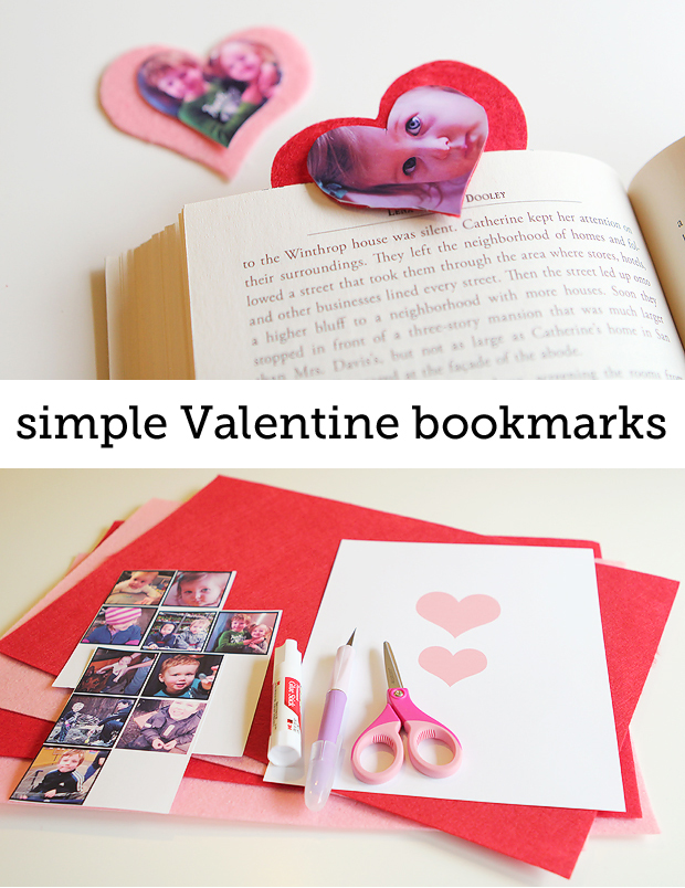 love these sweet photo bookmarks - so easy!