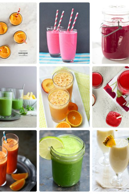 Colorful Smoothies and Juices to Kick the Winter Blues