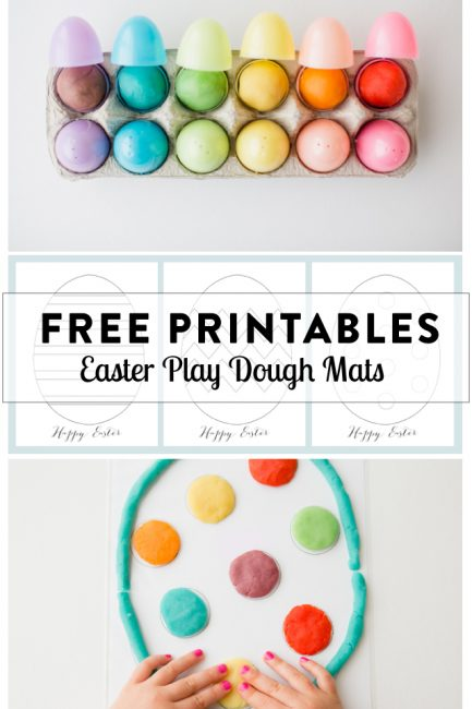 Play Dough Mats for Your Easter Baskets (Free Printables)