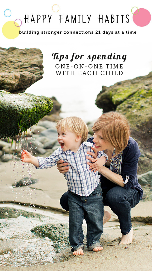 Tips on how to get quality time with each child - part of a wonderful series of ideas on how to connect with our kids.