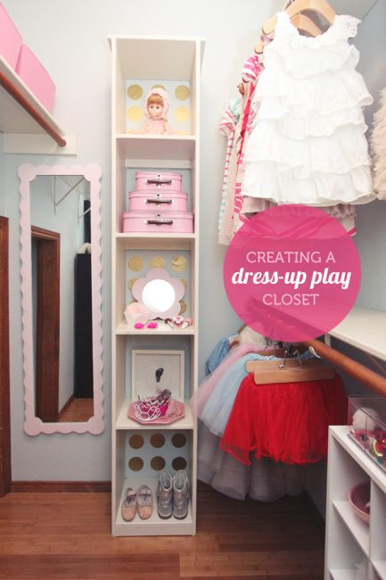 Creating a Dress-Up Play Closet {The Forever Home Project}