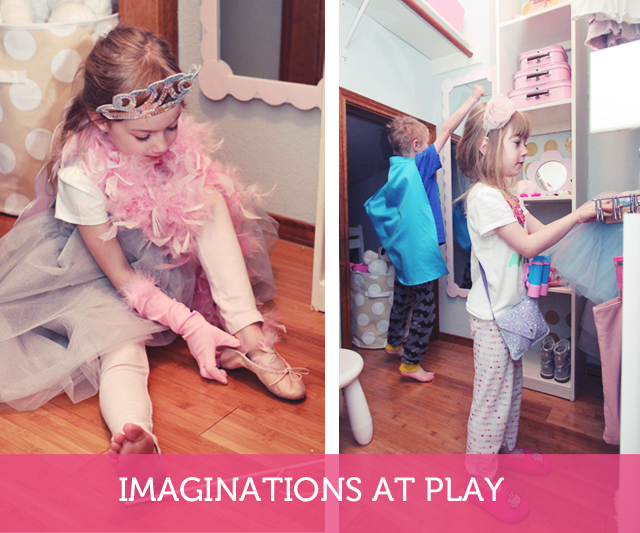 How to makeover your child's closet to encourage dress-up play while keeping everyday clothes organized.