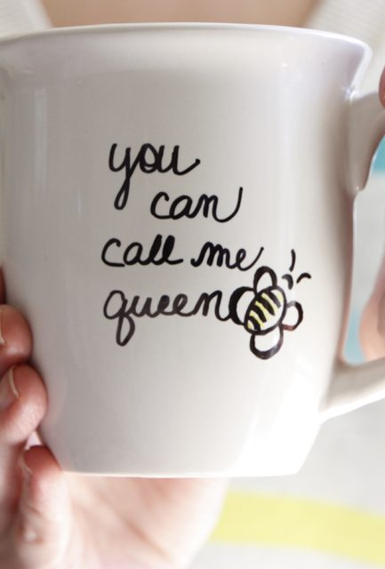 Mother's Day DIY Mug (You can call me Queen Bee)
