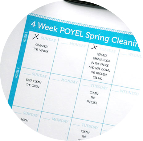 free printable: spring cleaning calendar