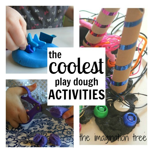 An amazing roundup of play dough activities - pinning for rainy days!