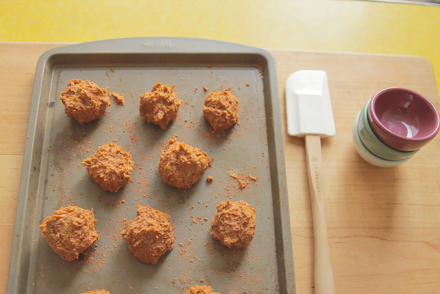 healthy spiced sweet potato truffles