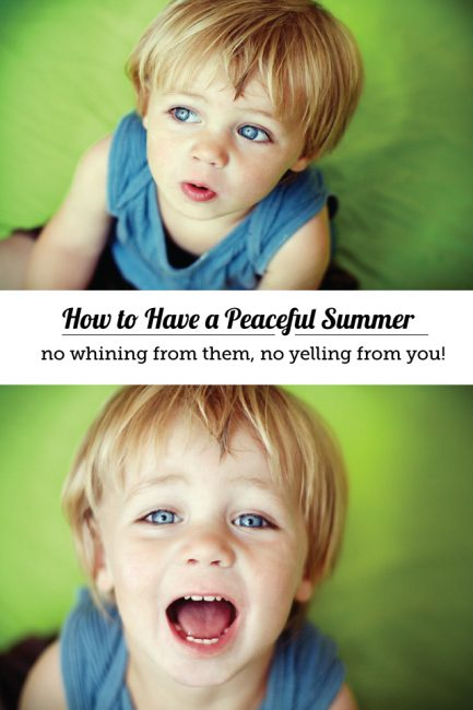 Free Positive Parenting Webinar: Have a Peaceful Summer Free of Whining & Yelling!
