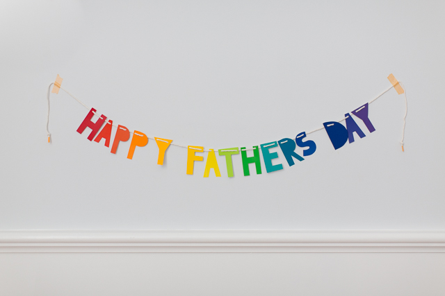 Fathers Day card that doubles as a banner!