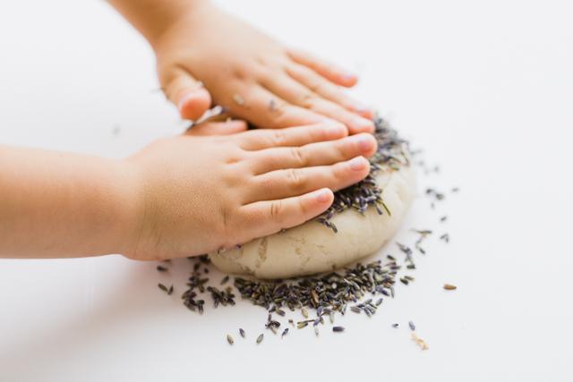 Quiet Time Trick: DIY Calming Lavender Play Dough
