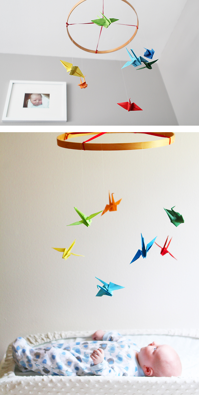 DIM (did it myself!) Baby Origami Paper Crane Mobile Chandelier ... | 1270x640