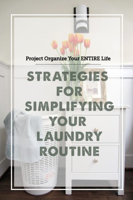 Strategies for Simplifying Household Laundry + Free Printable