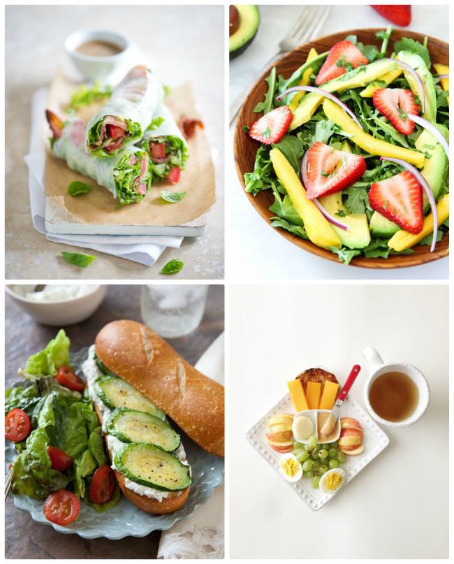 10 PERFECT PARK LUNCHES - Love these options for avoiding eating my kids PB&J at the park - esp. the knock-off Starbucks protein box!