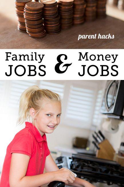 """Establishing """"Family Jobs"""" & """"Money Jobs"""" at Home"""