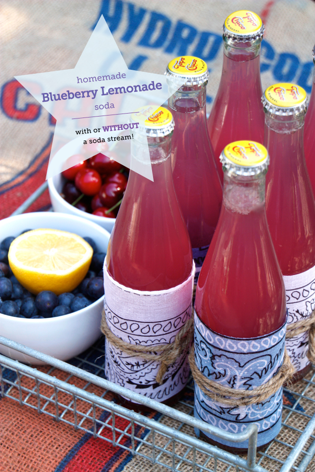 Blueberry Lemonade Soda | Refreshing Homemade Soda Recipes Perfect This Summer | how to make homemade soda from scratch