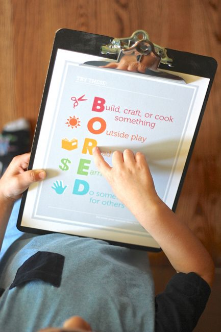 "Free Printable: No More ""Mom, I'm Bored!"""